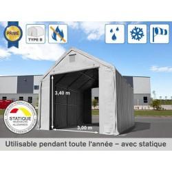 Hangar 5x8 m, porte 3x3,4...